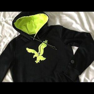 Black American Eagle Hoodie w/ Neon Logo